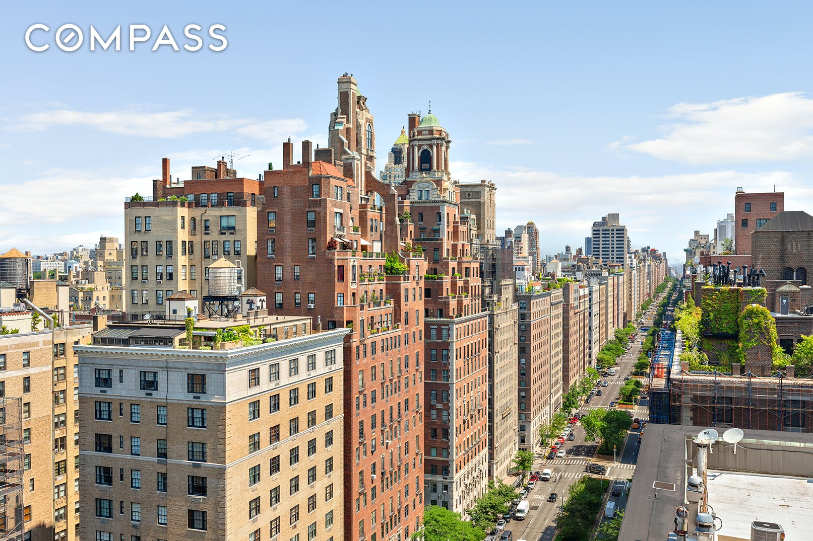 Located on one of the most prestigious corners of the Upper East Side at 71st Street and Park Avenue, just two blocks from Central Park and surrounded by some of the most beautiful buildings and wonderful shops and restaurants  in New York City,  this four bedroom (plus a library), four-and-a-half-bathroom 4,337 square foot condominium with charming terraces offers the grace of a pre-war Park Avenue building with the amenities, flexibility and modern design and construction of a new condominium.   With its own private elevator vestibule, Apartment 20A provides incredible privacy and elegance.  Wrap around open city views, wonderfully scaled rooms and beautiful finishes make this apartment exceptional. A loft-like great room feels Parisian chic and works perfectly for entertaining. Just adjacent is an intimate library with direct access to a private terrace with spectacular northern, southern, and western views. A beautiful, formal powder room is located just off the entrance gallery.  The large rectangular kitchen by Varenna, complete with Miele appliances, features an expansive island and great storage with an adjacent pantry/mud room with a service entrance. The kitchen is cleverly open to the dining portion of the great room, but designed to be able to be separate for more formal occasions. There is also a full laundry room in the apartment.  A peaceful bedroom wing, features a bright and airy primary bedroom suite, three  secondary bedrooms all with ensuite baths. The primary bedroom suite offers enviable walk-in closets with a dressing area and palatial en-suite windowed 7-fixture bath with a soaking tub, heated marble floors, double sinks, two showers, and two water closets. The bedroom itself is perched on the corner of 71st and Park affording views of iconic Park Avenue and a piece of Central Park. The spacious secondary bedrooms also include en suite baths outfitted with the highest quality stone and hardware.  With its seasoned staff, superior layouts and 